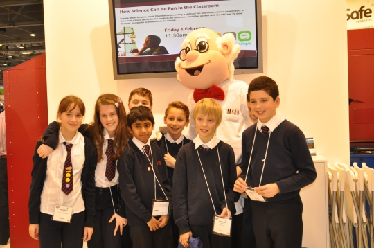 Me and students from Great Berry Primary School at Bett 2013